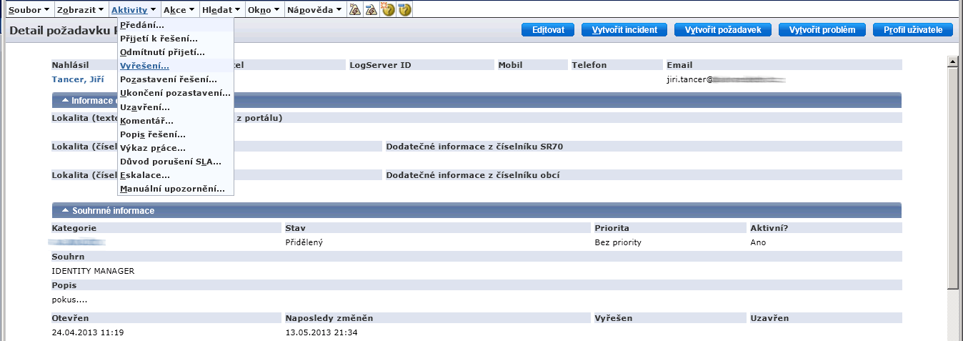 CA Service Desk Manager   Czech Version Sample